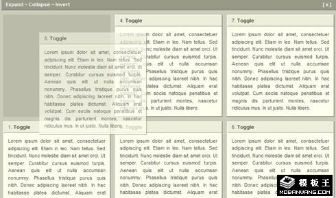 JQuery Portlets可以自由移动div布局效果