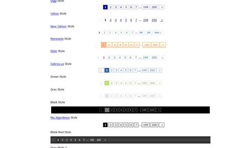24款漂亮实用的Web 2.0风格CSS翻页