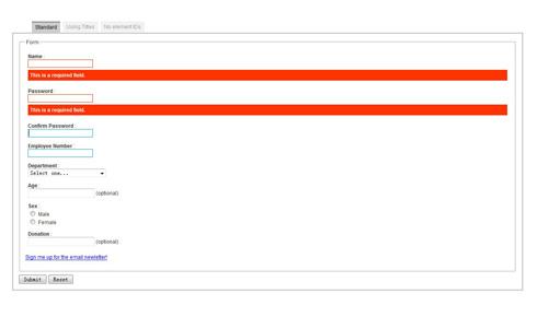 AJAX表单验证提示特效代码