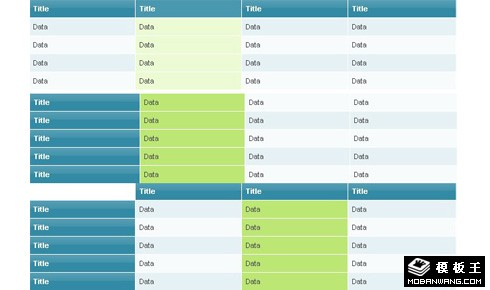 JS实现漂亮的表格table特效代码