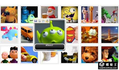 jQuery实现鼠标经过图片放大并显示标题特效代码