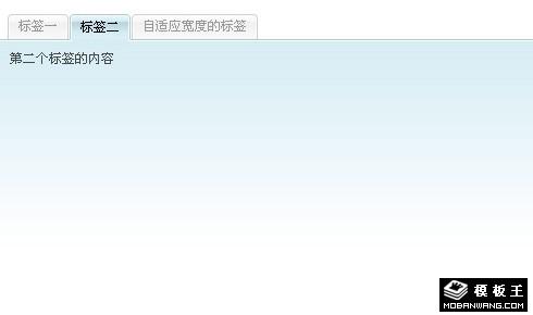 自适应宽度的JS+css标签Tab导航