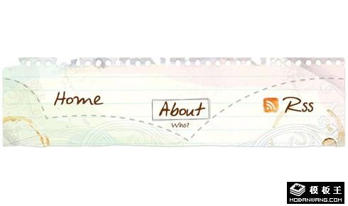 纯CSS手绘风格笔记样式导航菜单