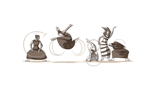google LOGO纪念美国现代舞舞蹈家玛莎・葛兰姆诞辰